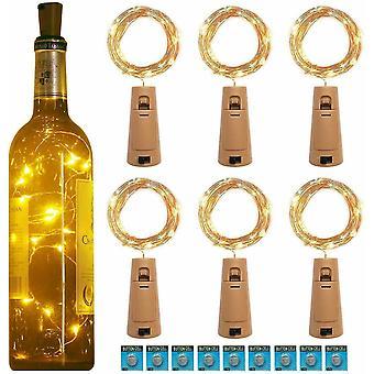 20Led Garland Kupferdraht Korkenzieher String Lichter für Glas Craft Flasche (Cool White)