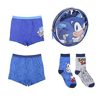 Pakket kinderondergoed Sonic Multicolour (4 stuks)