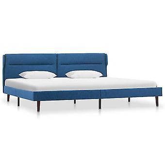vidaXL Sängyn runko Sininen Kangas 180 × 200 cm