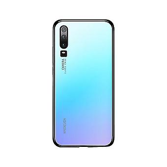 Huawei P30 Glossy Tempered Glass Case - Bleu clair