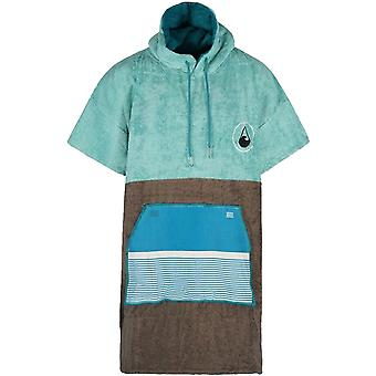 Wave Hawaii Unisex Adults Tres Beach Surf Hooded Changing Towel Poncho - Blue