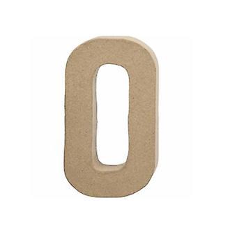 20,5cm papel grande Mache Letra O | Formas de Papel Mache