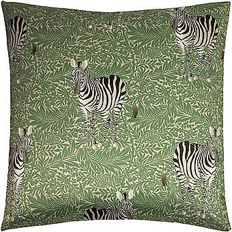 Paoletti Zebra Foliage Cushion Cover