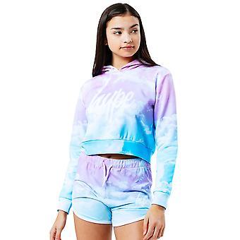 Hype Dziewczyny Pastel Chmury przycięte bluza z kapturem