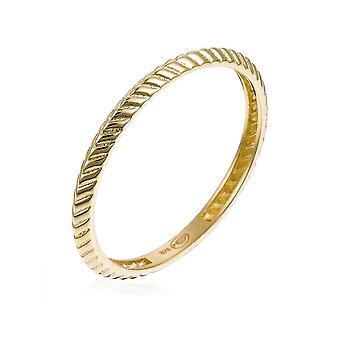 Ring 'Geplooid' Geel Goud