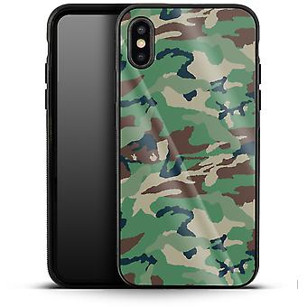 Green and Brown Camo by caseable Designs Luxury Phone Case Apple iPhone XS Max