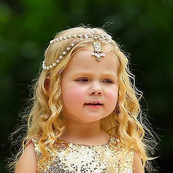 Frunte împletite Lanț-fată Princess Accesorii de păr