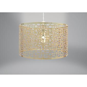 Country Club Metal Light Fitting, French Gold