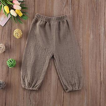 Baby Pants Wrinkled Cotton Vintage Bloomers Trousers Legging Solid Pants