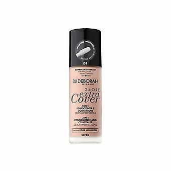 Crème Make-up Base 24 Ore Extra Cover Deborah Nº 01