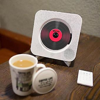 Wall Mounted Cd Player Surround Sound Fm Radio Bluetooth Usb Mp3 Disk Portable Music Player Remote