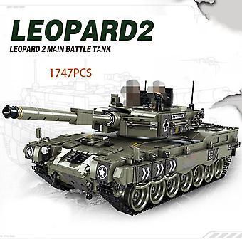 1747 Pcs Tank Mini Model Building Blocks Educational Military Series Vehicle Bricks Giocattoli