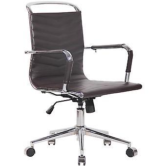 Toimistotuoli - Työpöytätuoli - Kotitoimisto - Moderni - Ruskea - Metalli - 56 cm x 64 cm x 92 cm
