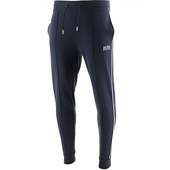 BOSS Dark Blue Cuffed Tracksuit Jogging Pant