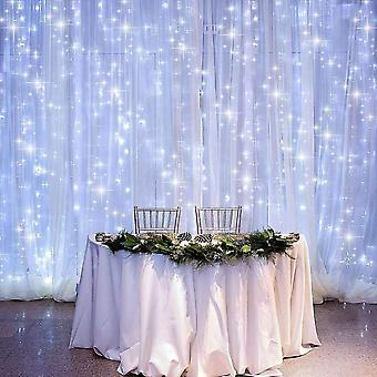 Curtain Lamp Power Supply, 3m X 3m 300 Led Christmas Fairy String Lights With 8 Modes Remote Control Indoor And Outdoor Christmas Pavilion Windows Wed