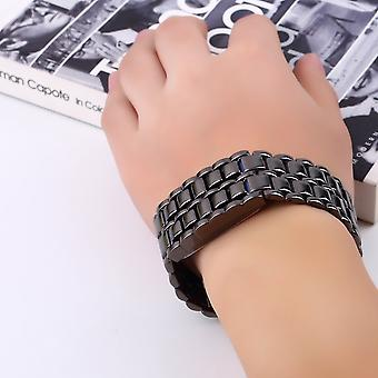 फैशन स्टाइलिश ब्लू एलईडी मेंस लावा शैली आयरन समुराई धातु घड़ी N3