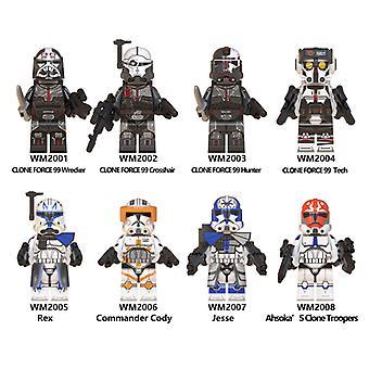 8szt Star Wars Series Destroyer Jesse Zmontowane Minifigurka Budulecy dla dzieci