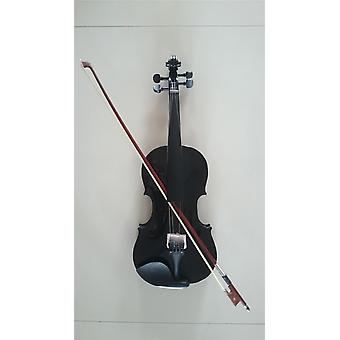 Student Acoustic Violin Full Maple Spruce With Bow Rosin Black