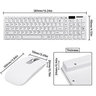 USB 2.4G Wireless Mouse Qwerty Tastatura Combo Kit