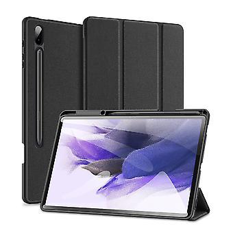 Samsung Galaxy Tab S7 Fe Ultra Thin Smart Leather Cover -kotelo lyijykynäpidikkeellä & automaattinen herätys / uni - musta