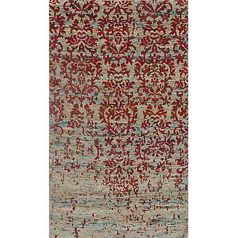 Persian Hand Knotted Silk & Cotton Rug One of Kind Rug, 5'x8' New Home Gift