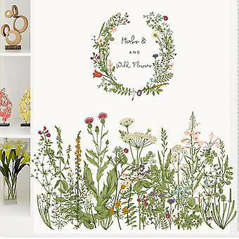 Ścienne Girlandy Kwiaty Roślin Naklejki ścienne Naklejki Sofa Ganek Tapety