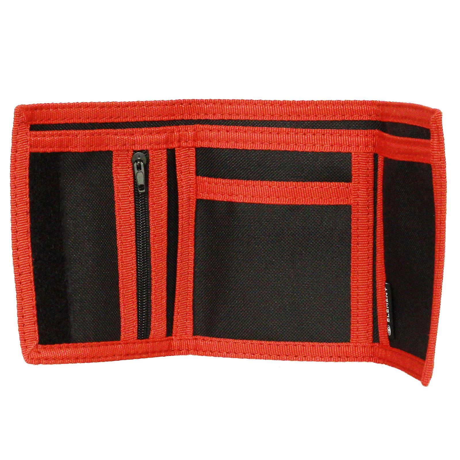 Element Trifold Wallet With Internal Pockets and Zipped Coin Section ~ Elemental black