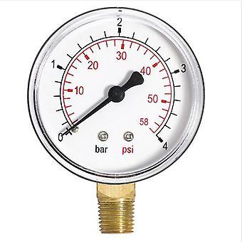 60 мм 1,6-10 бар манометрическое давление воды 1/4