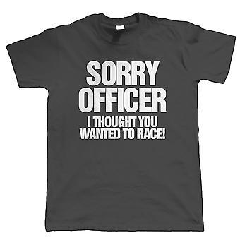 Désolé Officier I Funny Car ou Biker T Shirt, Cadeau pour lui papa