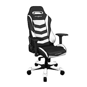 DX Racer DXRacer Iron Series OH/IS166/NW High-Back Boss Executive Chair PU Office Gaming Chair(Black/White)