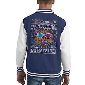 Ho Ho Homecoming Saved by The Bell Christmas Knit Kid's Varsity Jacket