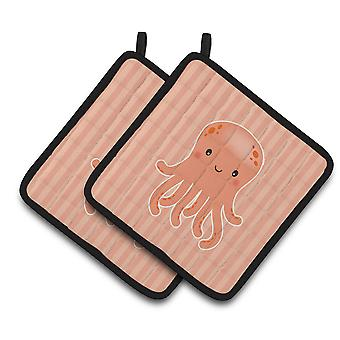 Carolines Treasures  BB7123PTHD Octopus Pair of Pot Holders