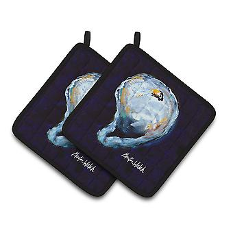 Carolines Treasures  MW1136PTHD Oyster Give me one Pair of Pot Holders