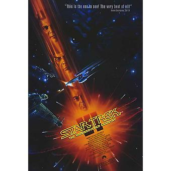 Star Trek 6 The Undiscovered Country Movie Poster (11 x 17)