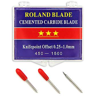 Replacement Vinyl Cutter Tool / Cemented Carbide Vinyl Cutting By Roland 3 Pack