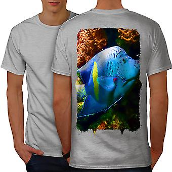 Deep sea Fish Cute Animal Men GreyT-shirt Back | Wellcoda