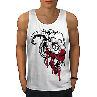 Evil Blood Animal Horror Men WhiteTank Top | Wellcoda