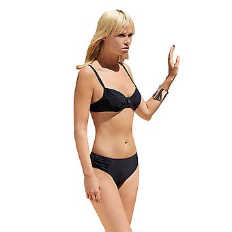 Opera 61660-5 Women's NOS Black Solid Colour Swimwear Beachwear Bikini Top