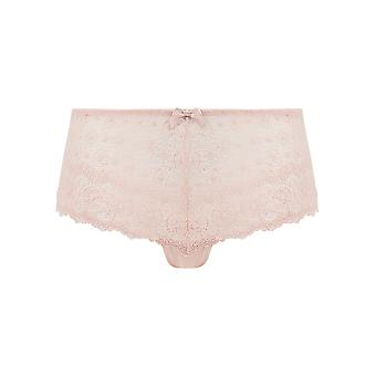 Guy de France 810866-181-008 Women's Pink Solid Colour Lace Knickers Panty Brief
