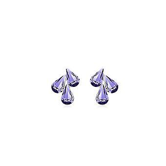 Womens viola gioielli fiore foglia goccia orecchini