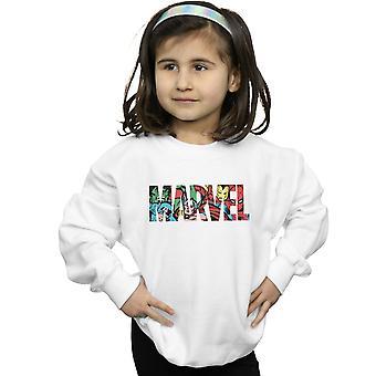 Marvel Comics Girls Logo Character Infill Sweatshirt