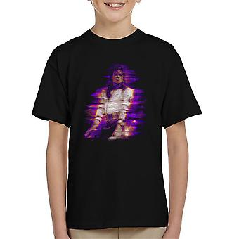 Michael Jackson Bad World Tour 1988 lila överstrålning Kid's T-Shirt
