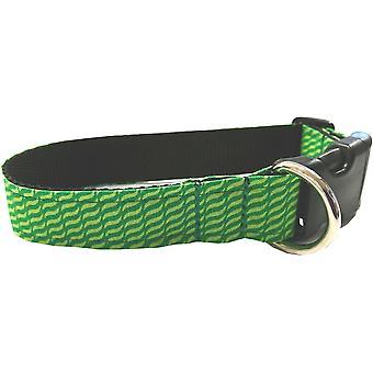 Dogcrafts Side Clip Dog Collar Wave Green