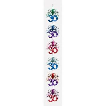 Amscan Milestone Birthday Cascade Column Decoration (Pack of 6)