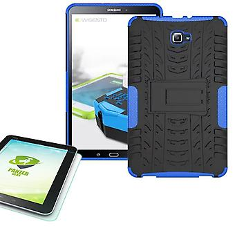 Hybrid outdoor bag blue for Samsung Galaxy tab A 10.1 T580 + 0.4 tempered glass