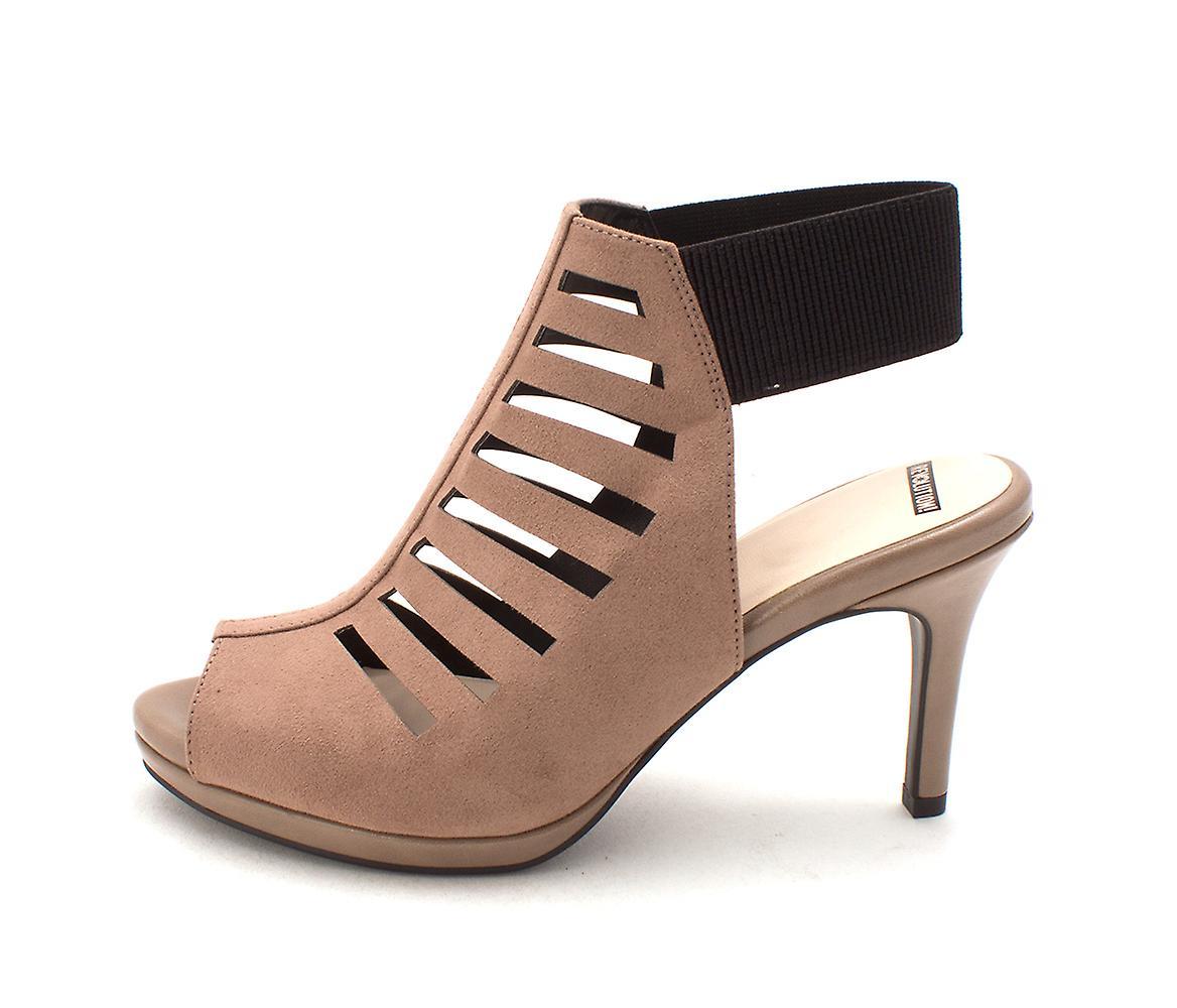 L S rewolucji damskie niesamowite tkaniny Peep Toe dorywczo Slingback sandały A1lLT