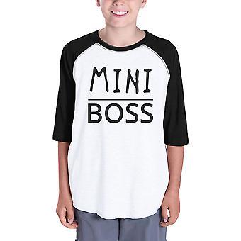 Mini Boss Kids Baseball T-shirt voor jongens grappige Raglan Tee voor meisjes