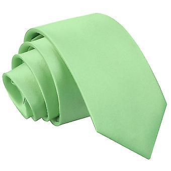 Lime grøn almindelig Satin slanke slips