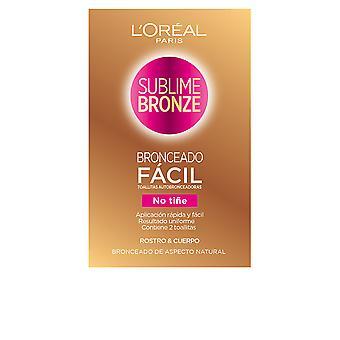 L ' Oréal Sublime Bronze Toallitas Autobronceadoras Cuerpo & Cara 2 Ud Unisex make-up