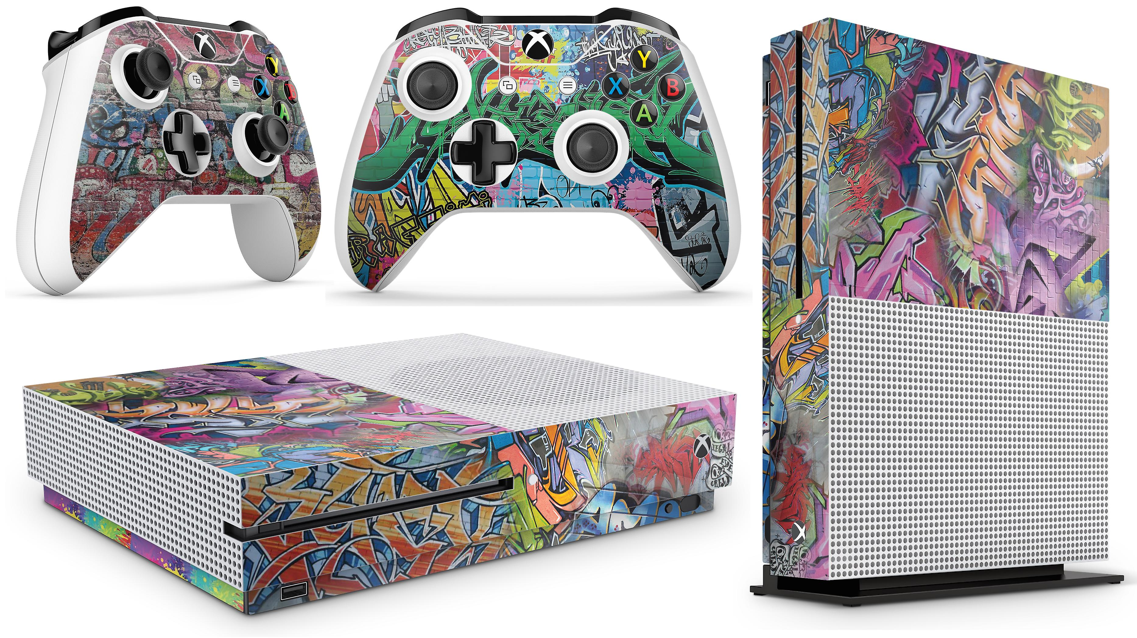 GNG Xbox One S Console Skin Decal Sticker  + 2 Controller Skins
